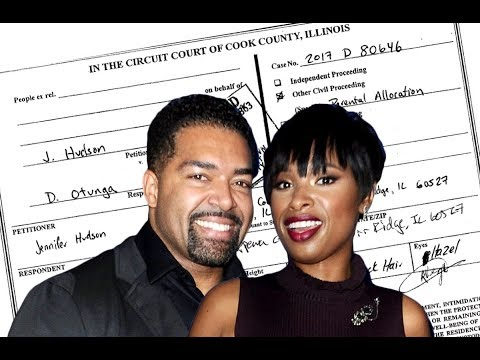 Jennifer Hudson & David Split & She Gets A Protective Order Against Him.