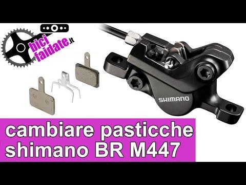 502e17b8c62 COME CAMBIARE LE PASTIGLIE FRENO SHIMANO DEORE BR M447 - YouTube