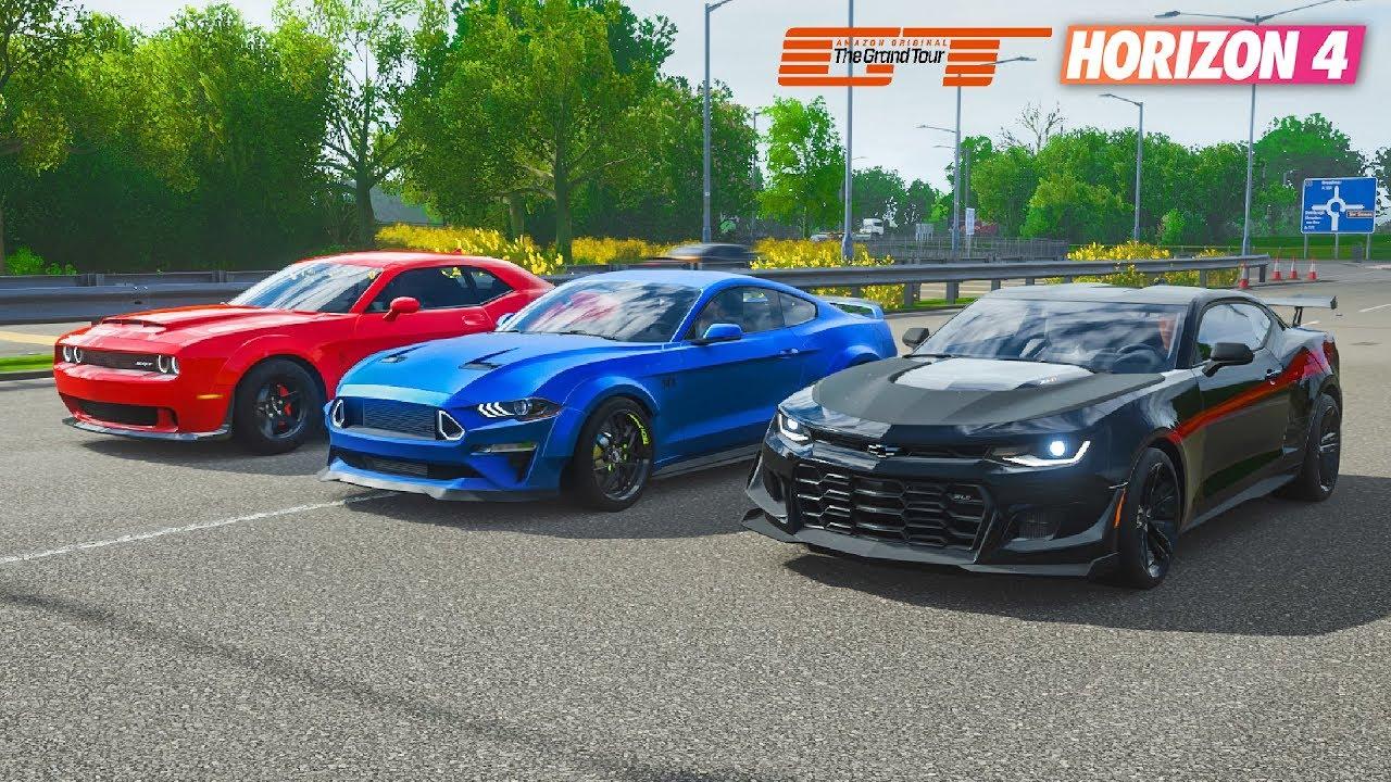 FH4 Drag Race | Ford Mustang RTR vs Dodge Demon vs 'The ...