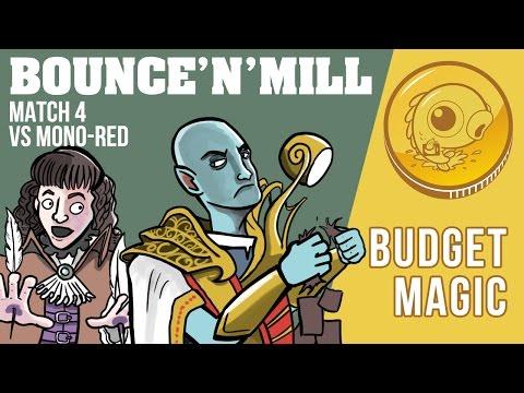 Budget Magic: Mono-U Bounce'n'Mill vs Mono-Red (Match 4)