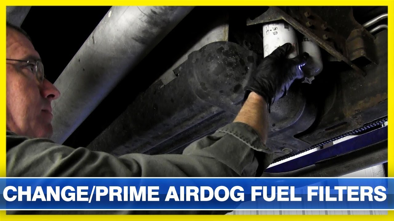 how to change and prime an airdog fuel system fuel filter  thoroughbred  diesel
