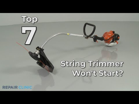 String Trimmer Won't Start? String Trimmer Troubleshooting