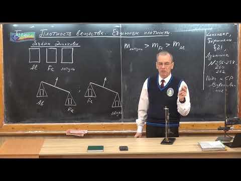Урок 27 (осн). Плотность. Единицы плотности