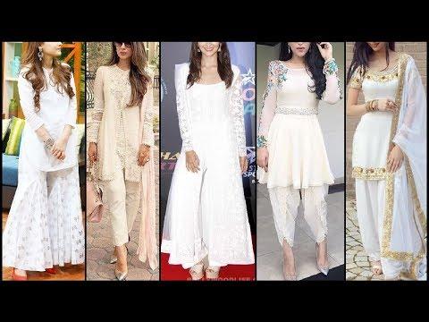Stylish Beautiful All White Dresses For Girls / Women (Kurti,suit,palazoo)| Hot White Suits Trend