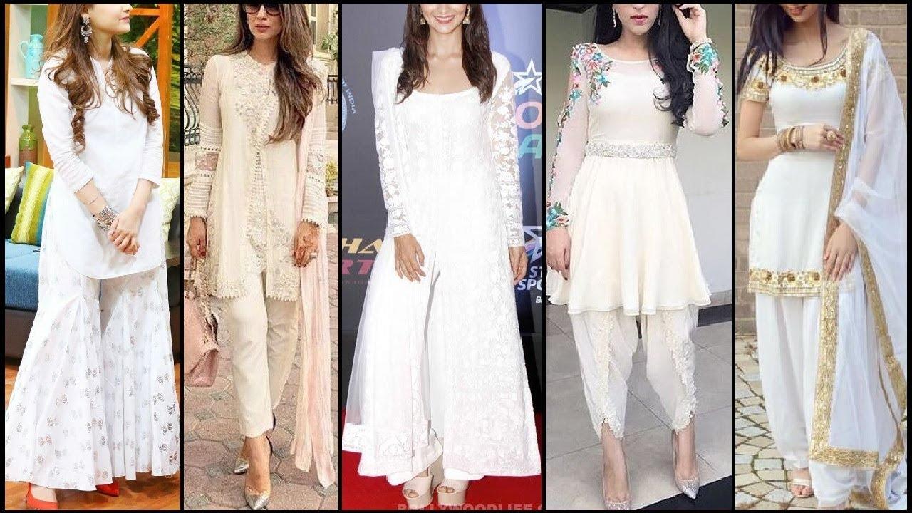 Stylish Beautiful All White Dresses For Girls / Women ...