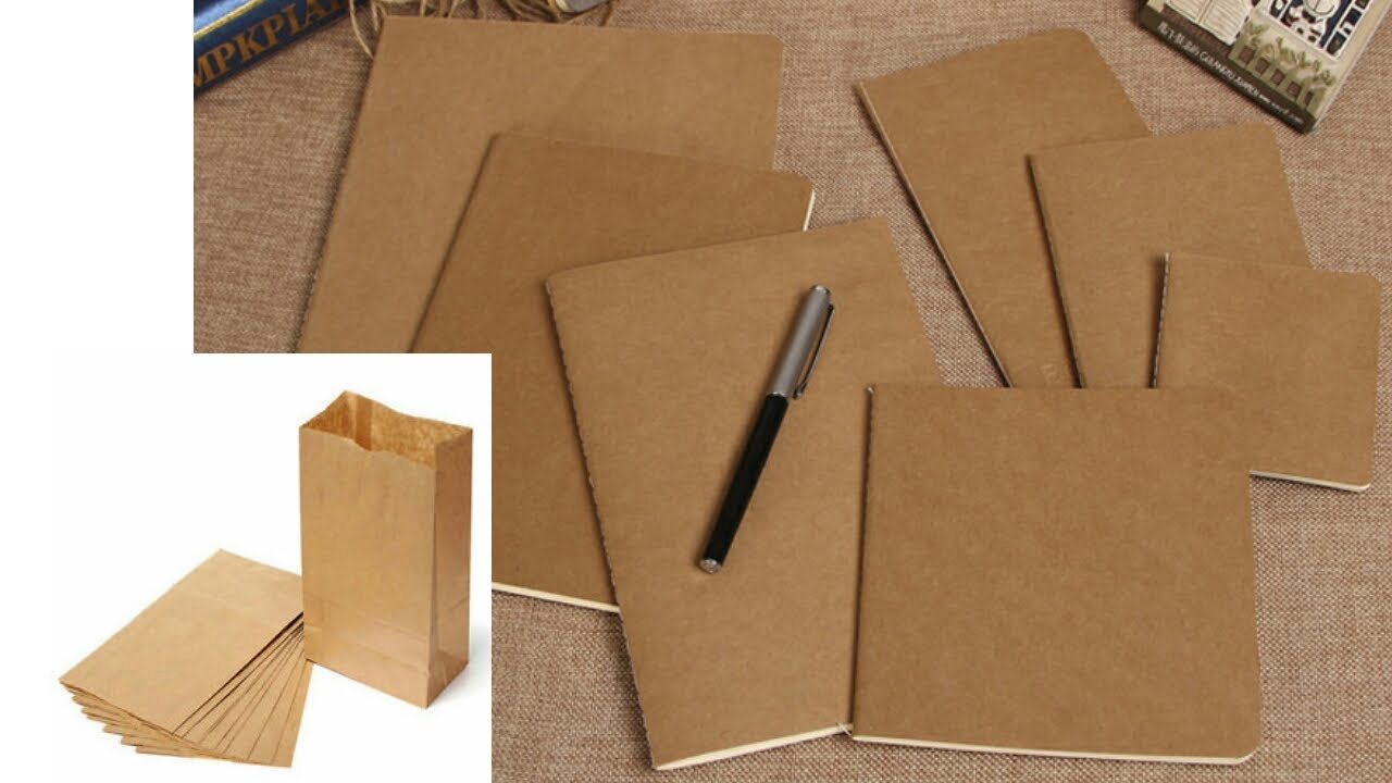 How to cover a book with brown paper carry