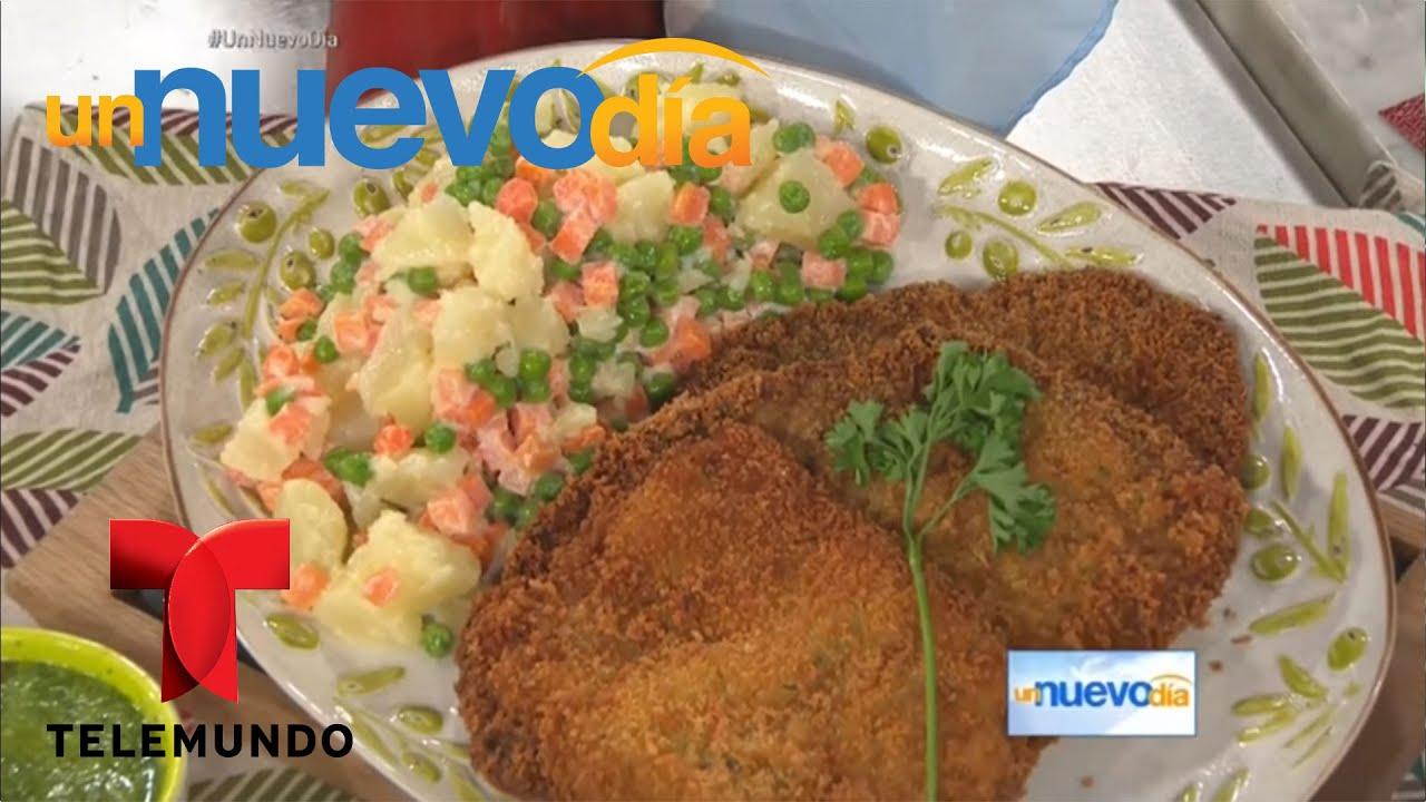Recetas De Cocina Como Hacer Milanesas De Carne Un Nuevo Dia Telemundo Youtube