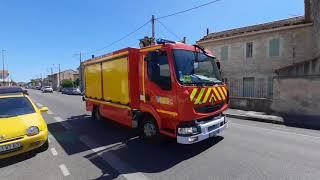(SDIS 84) Départ VSR-22 sapeurs-pompiers Avignon de toute urgence à une intervention!