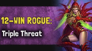 Hearthstone Arena | 12-Win Rogue: Triple Threat (Boomsday #10)