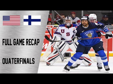USA vs Finland Quarterfinals Highlights | January 2nd, WJC 2020