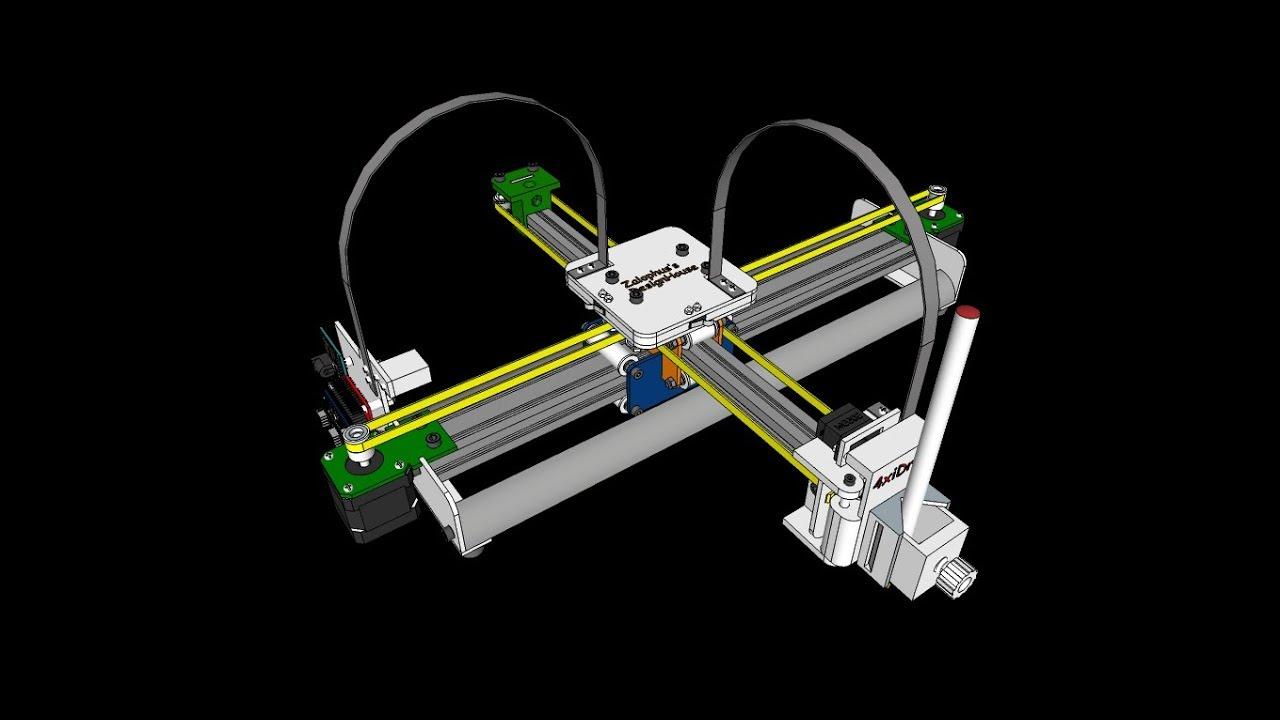 Drawing Machine - 4xiDraw V1 / A4 - Design Concept - 20180908