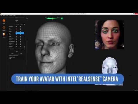FaceShift using the Intel RealSense Camera