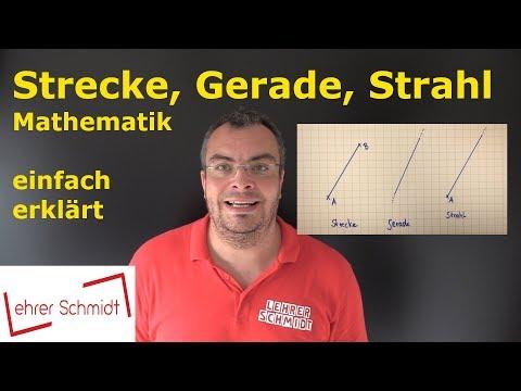 Strecke, Gerade, Strahl | Mathematik - einfach erklärt