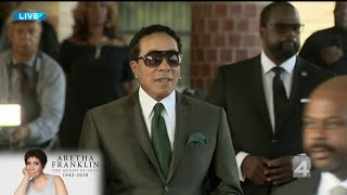 Smokey Robinson Arrives In Detroit For Aretha Franklin's Funeral