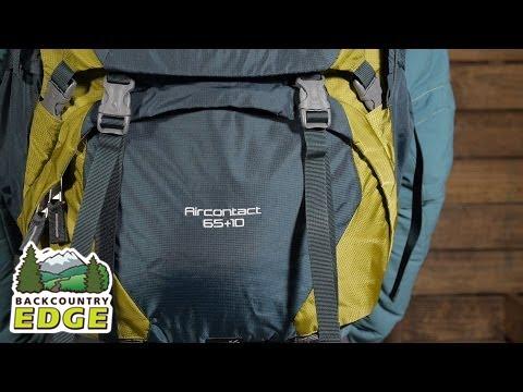 dda030a77841e Deuter Aircontact 65+10 Backpack - YouTube