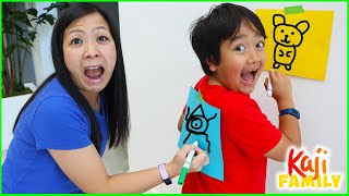Draw on My Back Challenge with Ryan vs Mommy!!!