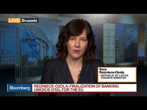 Latvia's Reizniece-Ozola on German Government, Banking Union, ECB Elections
