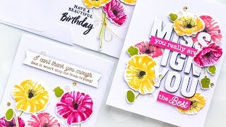Friendship & Birthday Cards with Poppies | Color Layering With Yana
