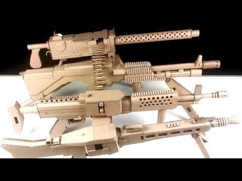 TOP 4 Unique Creations Cardboard Machine Gun Full Auto