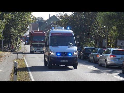 Analytische Task Force Dortmund - Einsatzfahrten zum Gefahrguteinsatz mit ManV in Halle am 08.10.16