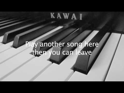 Biffy Clyro - Biblical (Piano Cover and Lyrics)