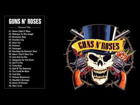 Guns N Roses Greatest Hits Full Album 2017  The Best Songs Of Guns N Roses