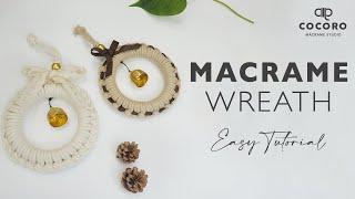 마크라메 도어벨 만들기 Macrame Wreath DI…