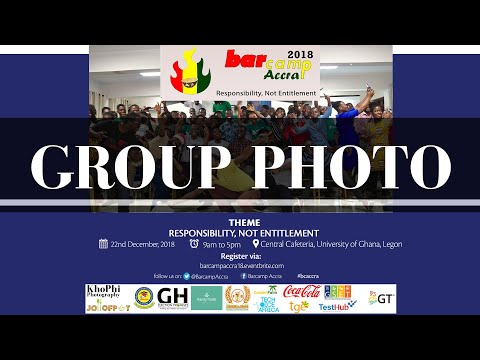 Barcamp Accra 2018 Group Photo