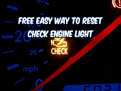 HOW TO RESET CHECK ENGINE LIGHT, FREE EASY WAY! (revised)