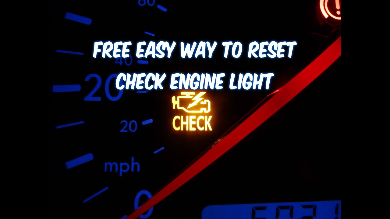 hight resolution of how to reset check engine light free easy way revised