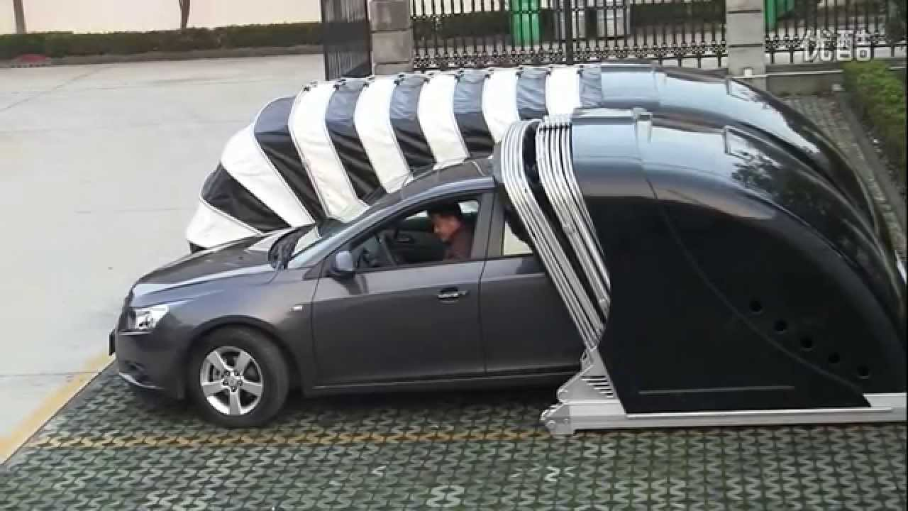 Pop Up Tent Garage : Chinese portable pop up garage youtube