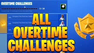 ALL OVERTIME CHALLENGES ( FREE SEASON 8 BATTLE PASS ) - Fortnite Guide