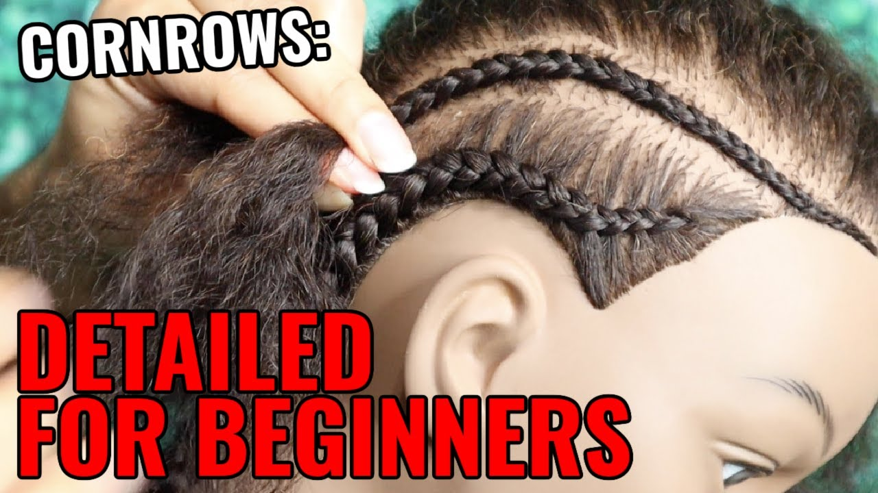 How To Cornrow For Beginners Youtube