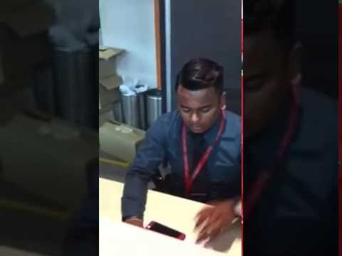 How Air Asia customer service treat you at the check in desk.