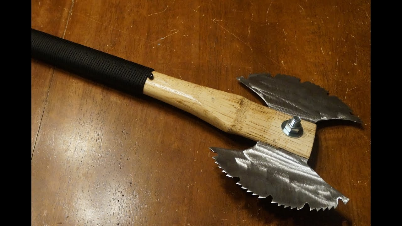 How to make a Double Sided Saw Blade Battleaxe | Post ...