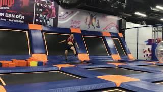 (Jump Arena) Một số kỹ năng tricking trên trampoline .