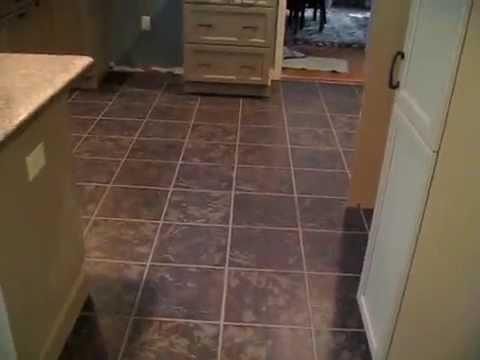 Ceramic tile Kitchen Floor - YouTube