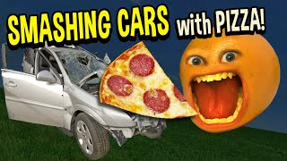 SMASHING CARS WITH PIZZA! | Roblox: Car Crushers 2