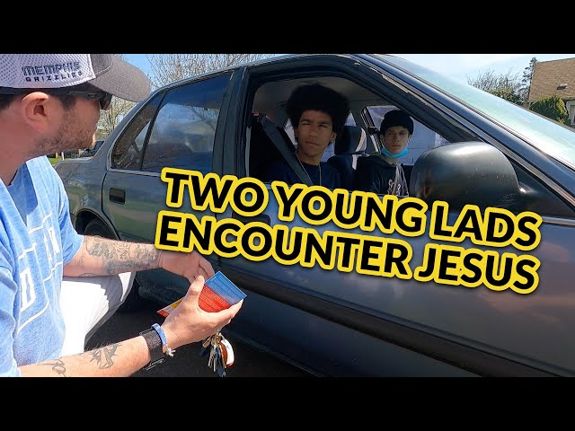 Two Young Lads Chilling in the Car Encounter Jesus