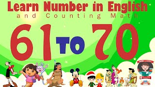 Learn Number Sixty one 61 to Seventy 70 in English & Counting Math