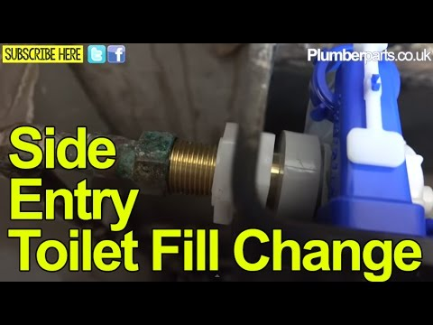 Side Entry Fill Valve Toilet Repair And