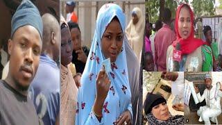 Umar M Shareef Maryam Yahaya da sauran jaruman kannywood do suka fita gurin zabe suka kada kuri'a