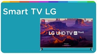 "Smart TV LG LED 50"" 4K 50UK6520PSA"