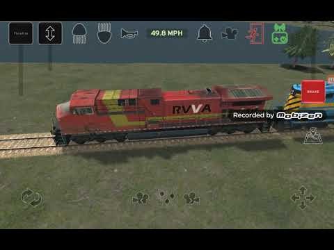 Train and Rail Yard simulator game being a conductor on a freight train |