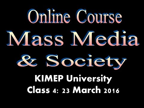 KNU Media & Society Class