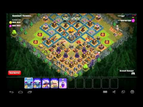 Clash Of Clans Attacking With 80 PEKKA And PEKKA King Golem King, Dragon King and many more!