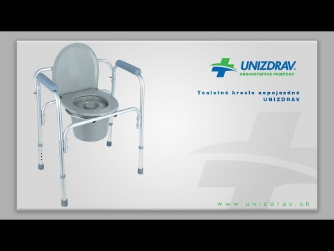 Toaletné kreslo nepojazdné UNIZDRAV - VIDEOMANUÁL