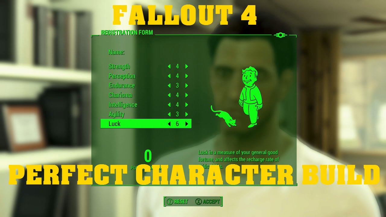 FALLOUT 4 Perfect Character Build Guide - YouTube