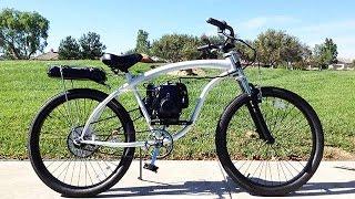 Helio Motorized Bicycles Superbike 4g with Rear tank Walk Around