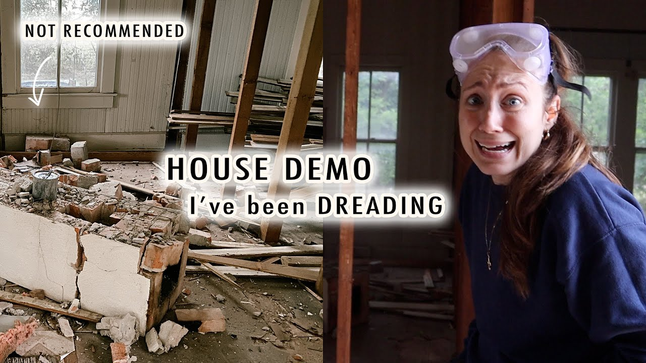 house demo I've been DREADING + thrift shop with us | XO, MaCenna Vlogs